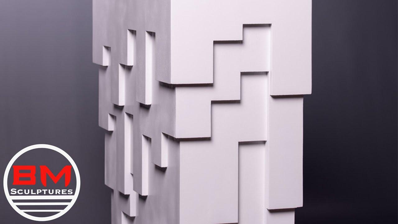 Building A Pixelated Wooden Pedestal // Woodworking