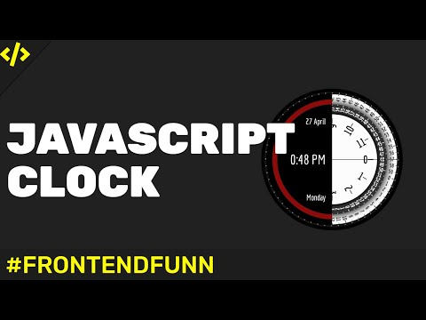 html5 css3 Javascript - digital Clock Tutorial with Day, Date and Month - web development thumbnail
