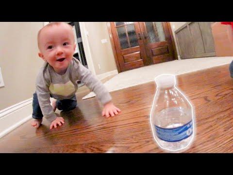 BABY DOES A BOTTLE FLIP!