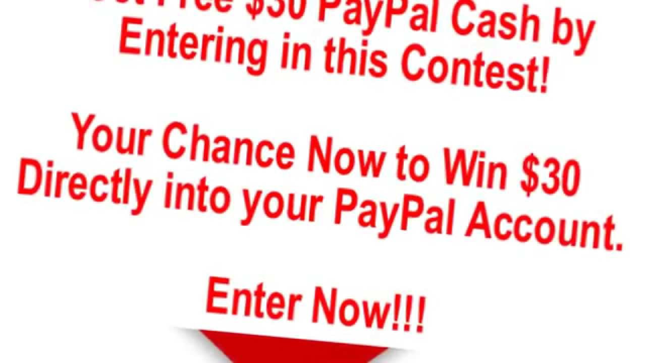 Free paypal cash giveaway enter to win now youtube for Enter now to win