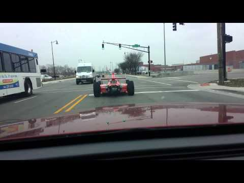Indy car on the street in Indianapolis