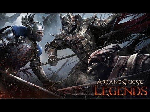 Arcane Quest Legends Gameplay Обзор Первый взгляд Летсплей (Android,APK,iOS)