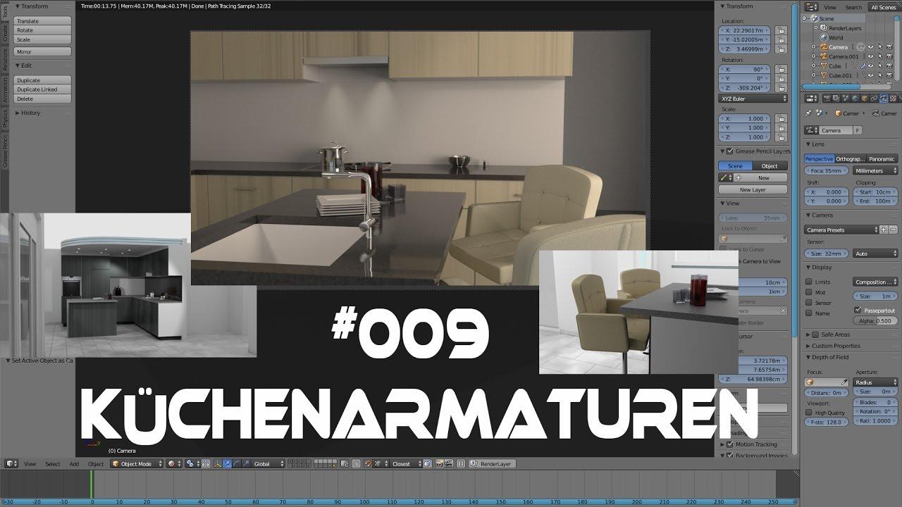 009 Blender 2.78 Haus Tutorial Küchenarmaturen (Kitchen) (Cycles ...