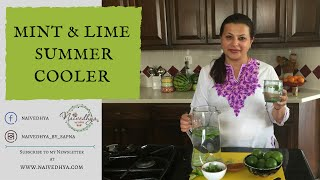 Mint and Lime Summer Cooler
