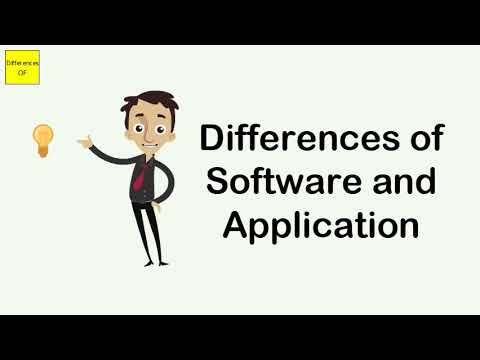 Differences Of Software And Application