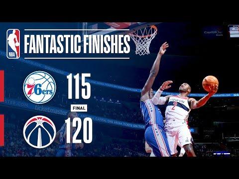 Best of Philadelphia 76ers vs Washington Wizards From 4th Quarter | October 18, 2017