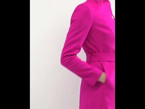amazing price save up to 80% new high quality Ted Baker Aurore Long Wrap Collar Coat in Pink - YouTube