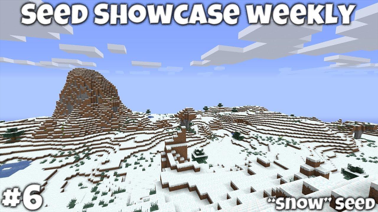 Minecraft 132 Snow Seed Showcase Snowytundra World Snow