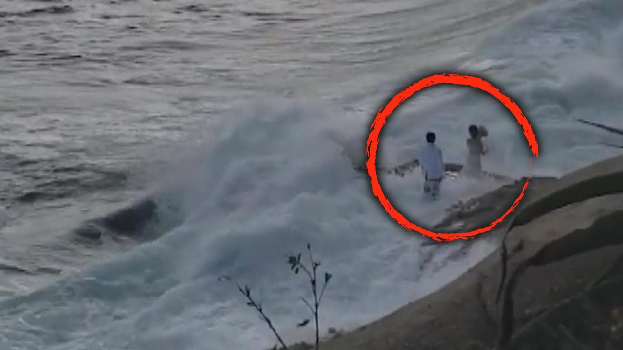 Newlyweds Rescued After Being Swept Into Ocean While Taking Photos ...