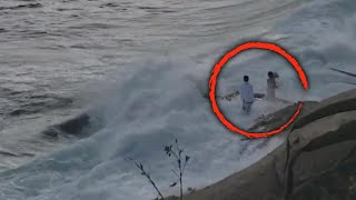 Newlyweds Rescued After Being Swept Into Ocean While Taking Photos