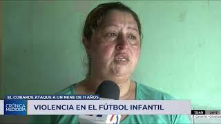 Palazos y patadas a un nene tras un partido de baby fútbol