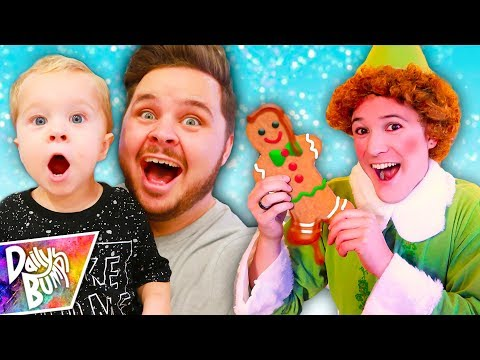 Decorating Giant Gingerbread Cookies!  (W/ Buddy the ELF!!!)