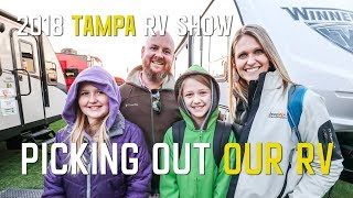 PICKING OUT our RV at the TAMPA RV SHOW S1 || Ep1
