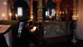 Молебен в Нижнем храме пред ракой с мощами прпп. Сергия и Германа (12.12.13.)(, 2013-12-12T19:42:22.000Z)