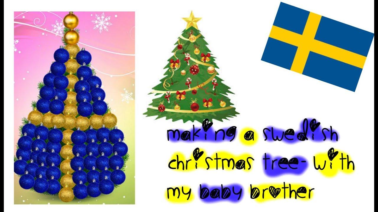 making a swedish christmas tree with my brother swedish - Swedish Christmas Tree