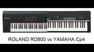 Roland Rd800 Vs Yamaha Cp4 stage piano jamming by Synthcloud