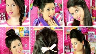 8 Cute & Easy School Hairstyles!