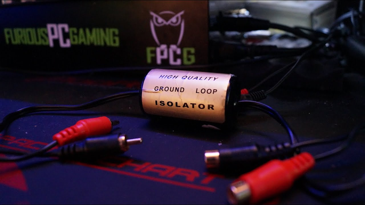 hight resolution of ground loop isolator fix before and after noise test