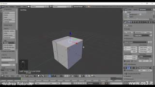 Corso Blender 2.78 - Lezione 1 - Fondamenti di modellazione