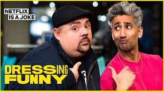 Tan France Gives Gabriel Iglesias An Anti-Fluffy Makeover | Dressing Funny