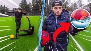 FUßBALL MIT WASSER BEFÜLLEN CHALLENGE *EXPERIMENT*