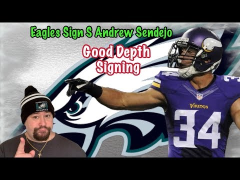 Eagles sign S Andrew Sendejo!!! A Good Depth Move at The Safety Position!!!