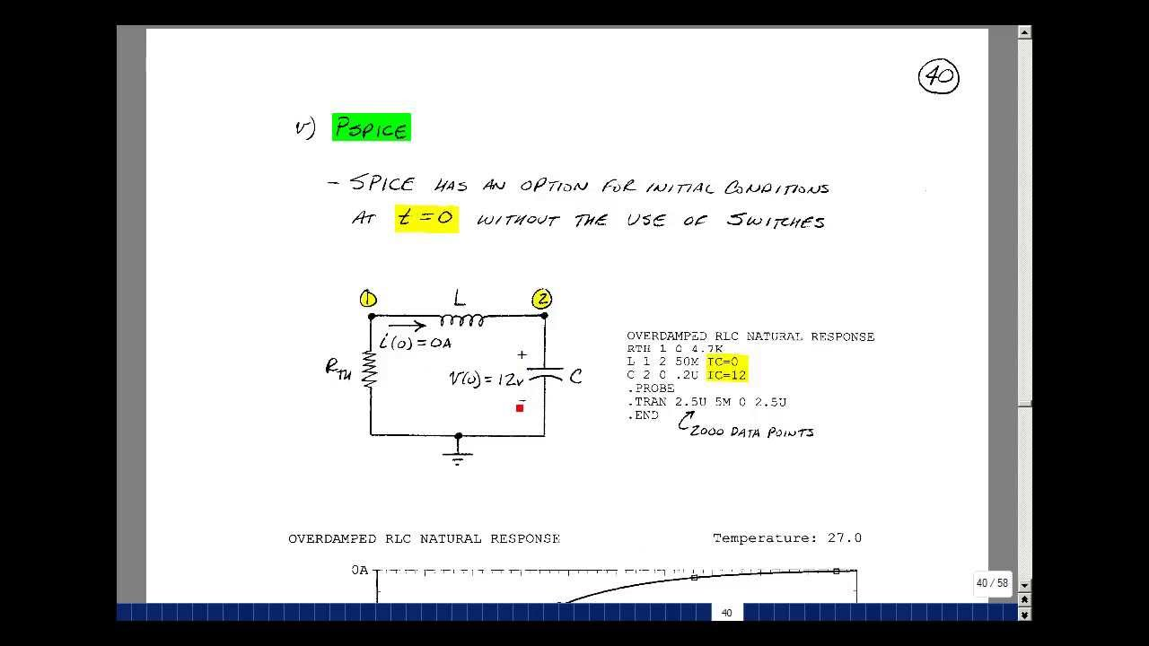 ece201msu chapter 7 overdamped natural response of a series rlc rh youtube com
