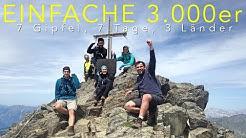Einfache 3000er - 7 Gipfel, 7 Tage, 3 Länder 