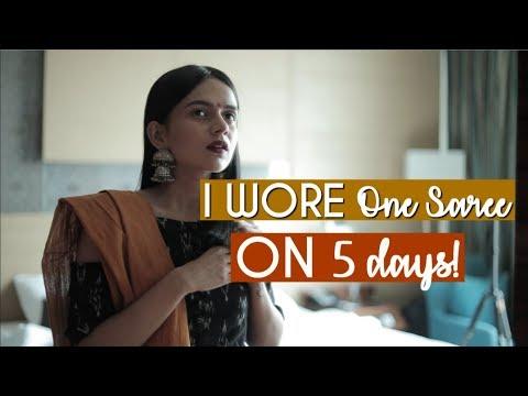 I Wore ONE Saree For 5 Days! #StyleChallenge | Komal Pandey