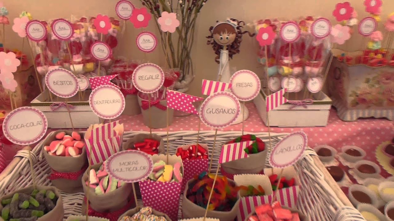 Como Decorar Una Mesa De Chuches Comunion Ana Buffet De Chuches