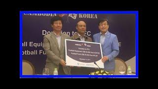 축구사랑나눔재단, 캄보디아 유소년 축구에 지원금 전달