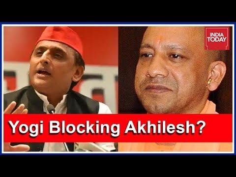 Samajwadi Party Goes On Rampage After Akhilesh Yadav  Blocked From Travelling To Prayagraj