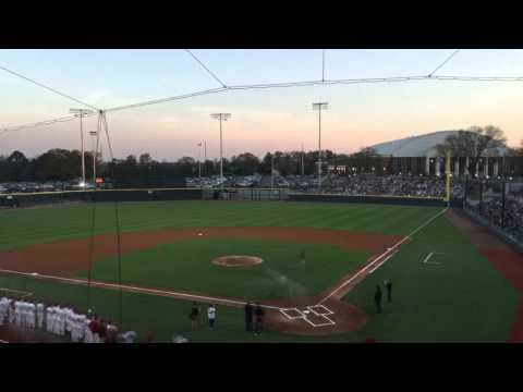 Sunset time lapse at Alabama baseball stadium