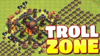 """Clash of Clans - """"TROLL ZONE"""" - EPIC TH10 TROLLING BASE IN CLASH OF CLANS!"""