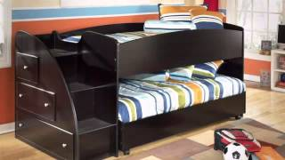 Embrace Youth Twin Loft Bed With Shelves & Drawers - Colemanfurniture.com