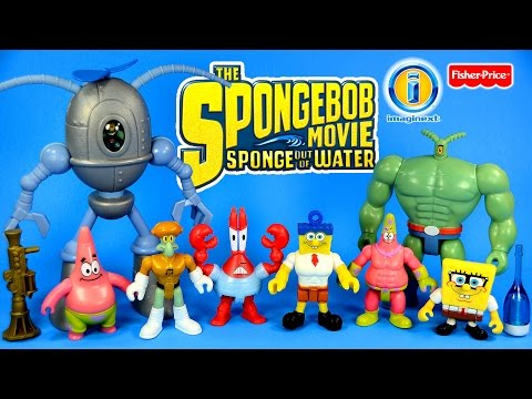 Imaginext The SpongeBob Movie Sponge Out of Water Fisher-Price Unboxing Set 2 Nickelodeon