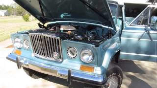1972 Jeep pickup start up and brief tour