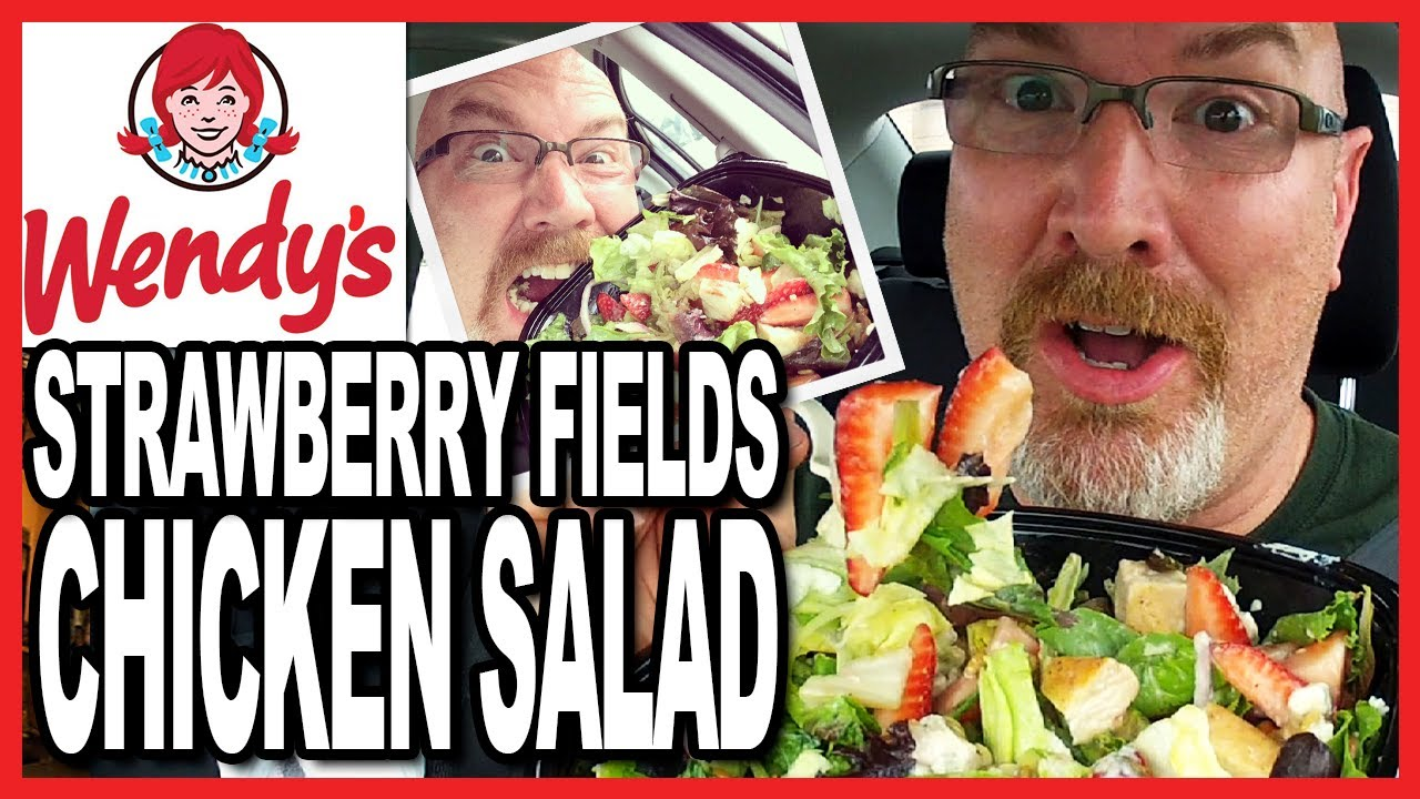 Wendy's ♥ Strawberry Fields ♥ Chicken Salad + Drive Through Test