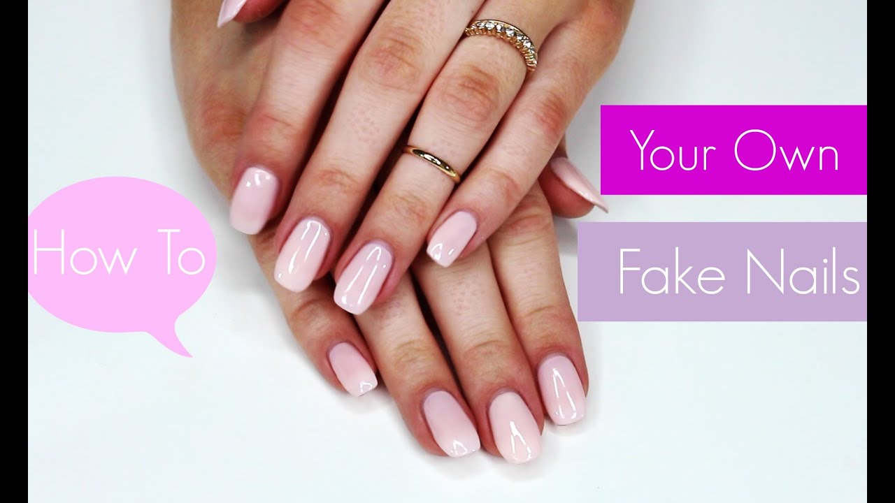 How To Do Your Own Fake Nails | Cosmobyhaley - YouTube