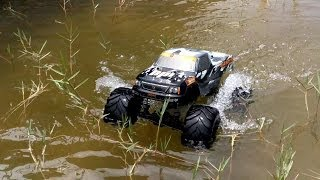 High Volts RC - RC Monster Truck Walks on Water