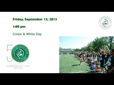 Stuart Country Day School - Celebrating 50 Years - Green & White Day