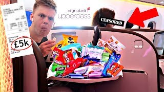 Letting the Passenger Next to me Decide what I Eat in FIRST CLASS!!