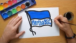 How to draw the Hertha BSC logo - Wie zeichnet man das Hertha BSC logo - Bundesliga