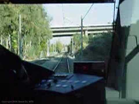 san diego trolley light rail mts green line cab view 3 youtube. Black Bedroom Furniture Sets. Home Design Ideas
