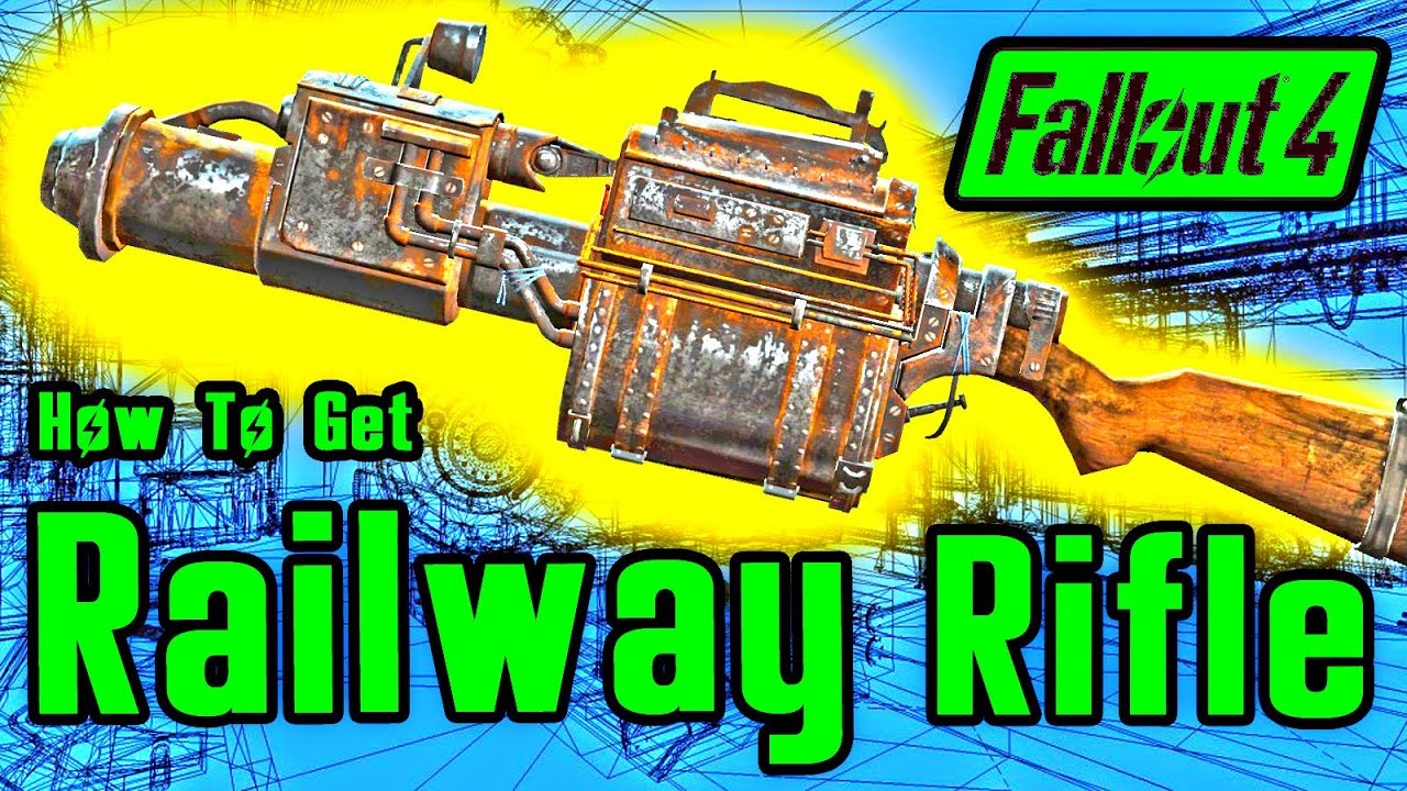 Fallout 4: Secret Hidden Railway Rifle Location Guide (READ DESCRIPTION)