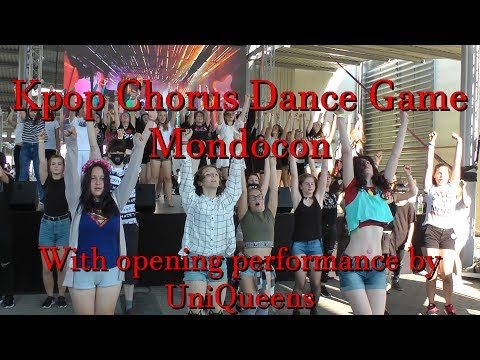 42 songs in 26 minutes - Kpop Chorus Dance Game @ Mondocon