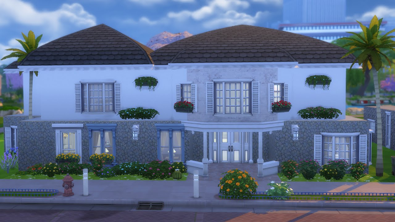 Most beautiful house ever sims 4 youtube house 7 youtube for Beautiful house ever