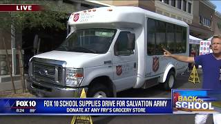 Back to school: FOX 10 school supplies drive for Salvation Army