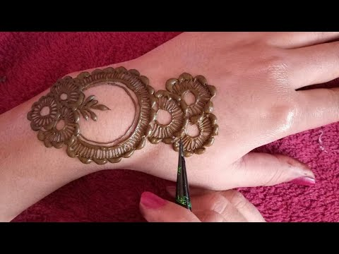Beautiful Arabic Mehndi Design For Back Side Hand How To