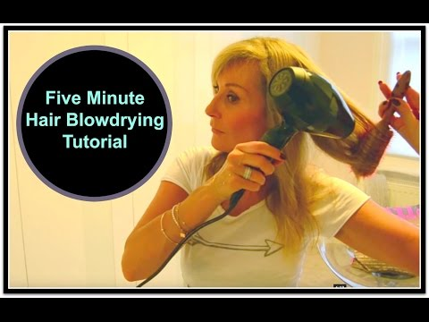 My Blow Drying Secrets - Five Minute Hair Tutorial